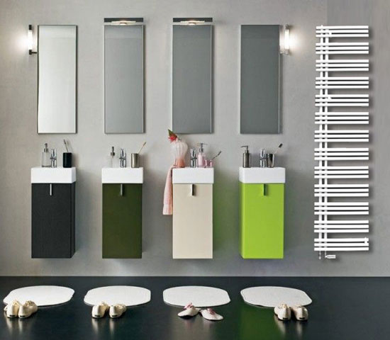 asymmetric towel radiator heios 09