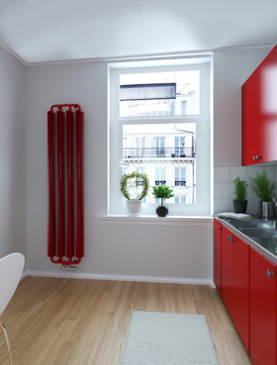 indistrial radiator red