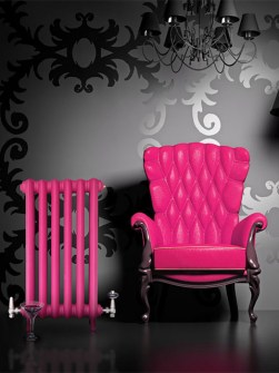 coloured radiators, pink radiators, red radiators, buy coloured radiators