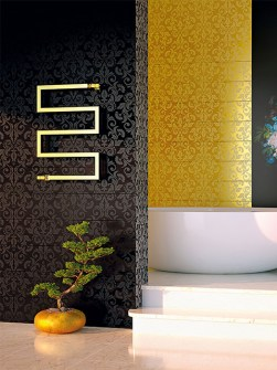 gold radiators, luxury towel rails, gold towel radiator