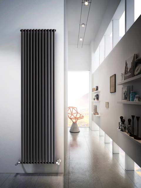 anthracite radiators, vertical aluminium radiators, aluminium tubular radiators