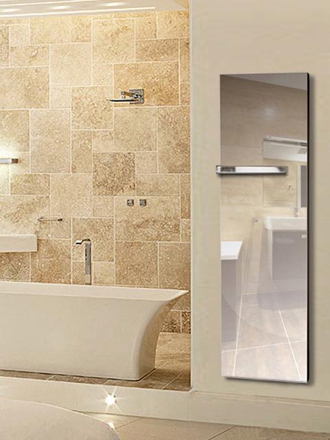 Mirror towel radiators real bathroom radiator radiators for Mirror radiator
