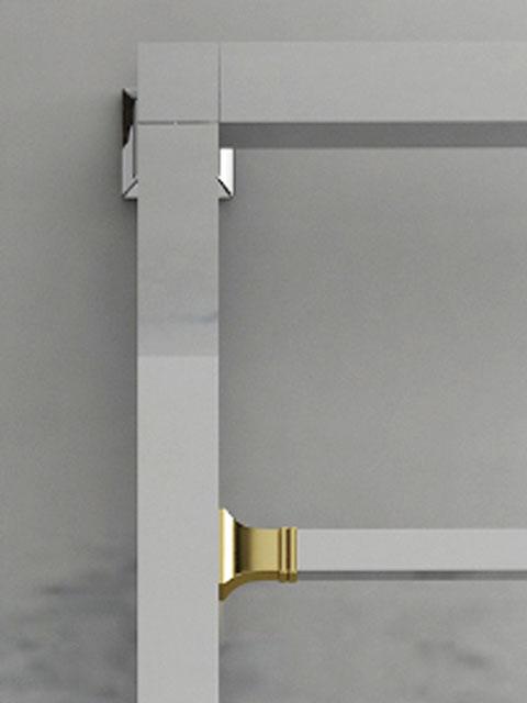 brass heated towel rails brass towel radiator senia uk. Black Bedroom Furniture Sets. Home Design Ideas