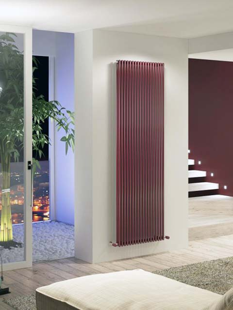 claret vertical radiators, upright radiators, high output radiators