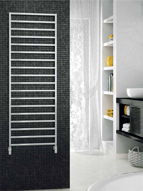 ladder heated towel rails, contemporary towel radiators, chrome radiators