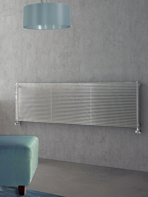 chrome radiators, chrome horizontal radiators, central heating radiator chrome