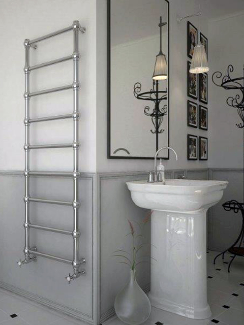 bathroom radiators, traditional electric towel warmers, chrome radiators