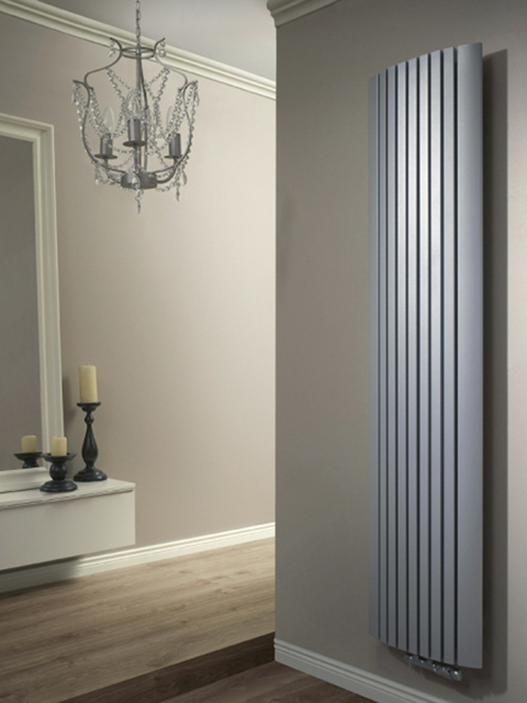 slim radiators, vertical radiators, wall radiators, grey radiators