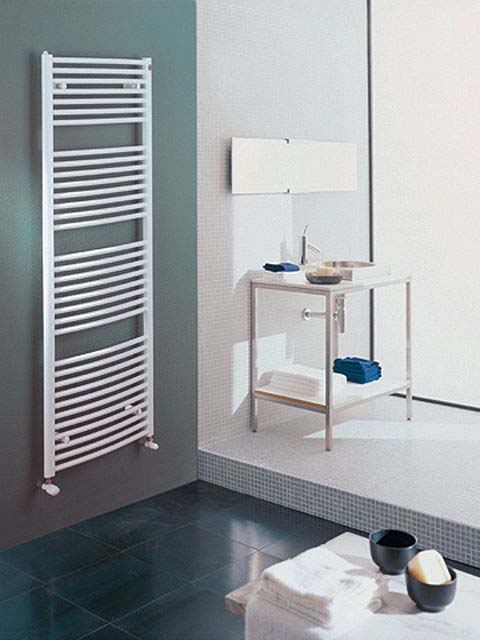heated towel rails, electric towel rails, white towel warmers