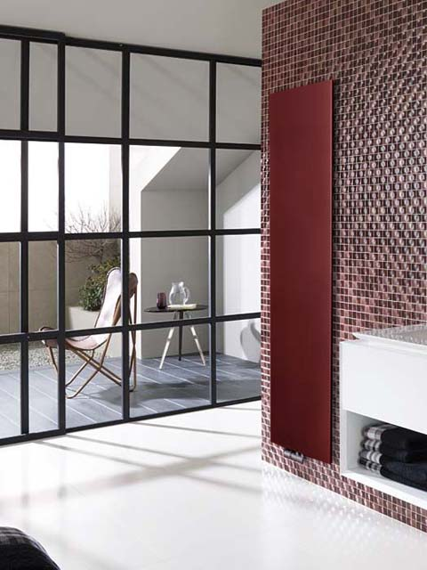 claret radiators, design radiators, flat panel radiators