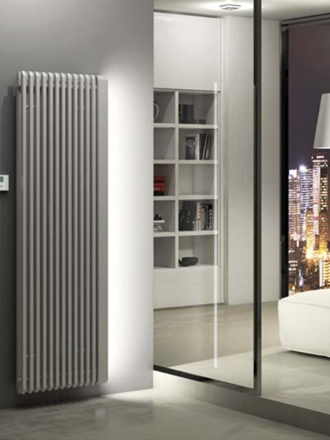 electric radiator, coloured radiator, grey electric radiator