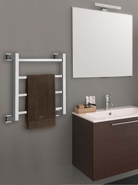 electric towel rails, brass radiator, silver towel rails