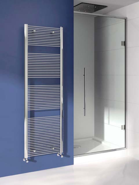 chrome heated towel rails, slim towel radiators, stylish towel radiators