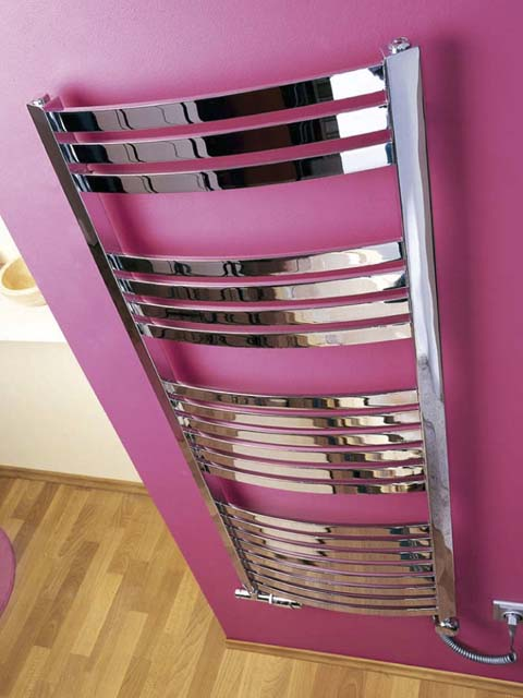 silver towel warmers, dual fuel towel warmers, chrome electric towel warmers