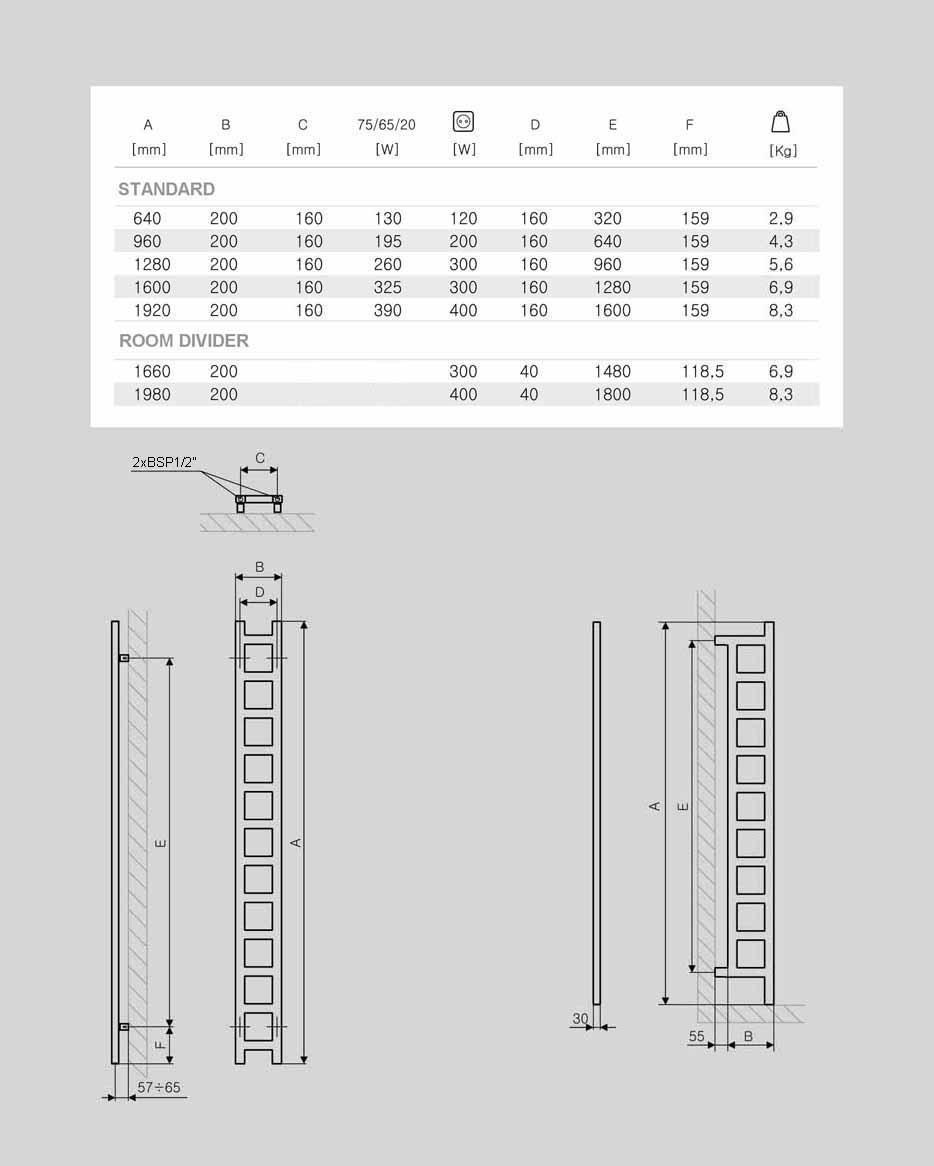 NARROW RADIATORS: Gekko Towel Radiator   Radiators SENIA