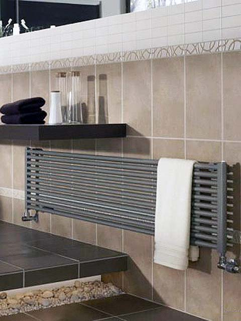 kitchen radiators, horizontal radiators, anthracite radiators