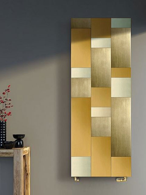 living room radiators, gold colour radiators, designer radiators, beautiful radiators, heating radiators