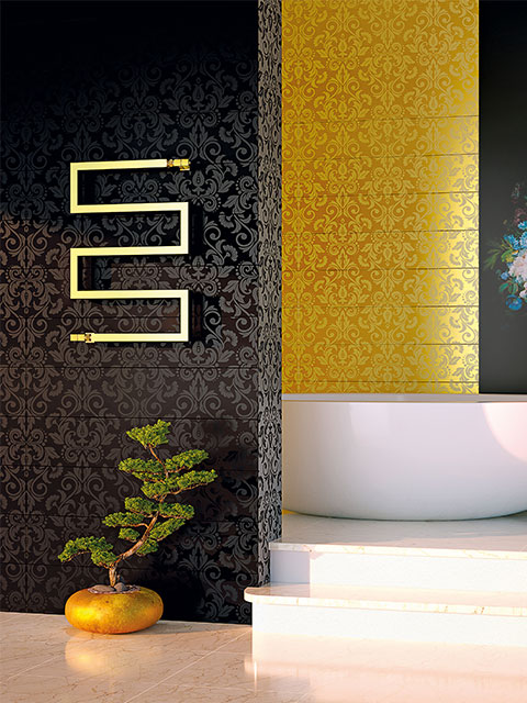 designer radiators, chrome designer radiators, gold radiators, snake radiators