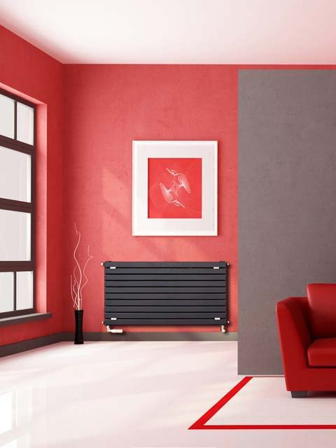 designer radiators, central heating radiators, brown radiators, coloured radiators, wide radiator, long radiator