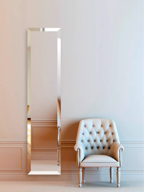 mirror radiators, vertical mirror radiators, mirrored radiators, designer radiators, radiator with mirror front