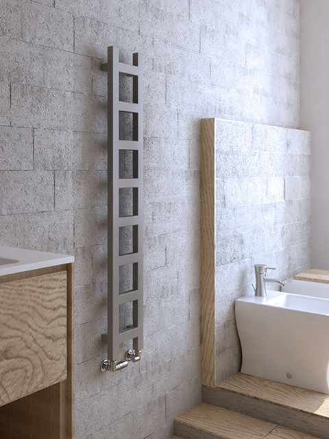 Small Bathroom Electric Wall Heaters: NARROW RADIATORS: Gekko Towel Radiator