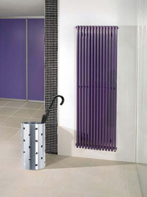 purple radiators, coloured radiators, stylis radiators