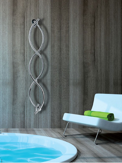 heated towel rails, chrome towel warmers, silver radiators