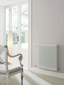low temperature column radiators, low water temperature radiators, white radiators