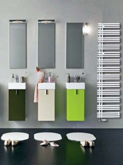 central heating towel rails, heated towel rails, coloured towel radiators