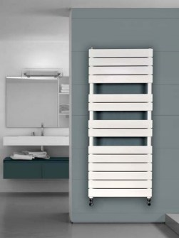 ladder radiators, heated towel ladder, coloured towel warmer,