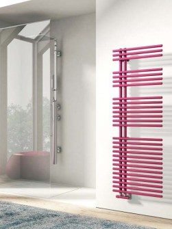 modern towel radiators, electric towel radiators, pink towel radiators