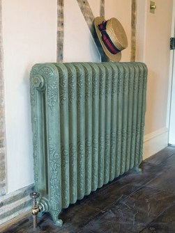 old style radiators, retro radiators, green radiators