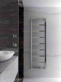 chrome towel radiator, designer towel radiator, copper towel rail, expensive radiator