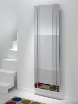 chorome mirror radiators, mirror radiators, hallway radiators,