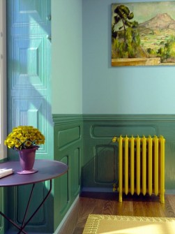 cast iron radiators, traditional cast iron radiators, yellow radiators