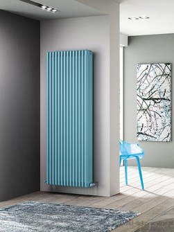 designer radiators, low temperature radiators, blue radiators