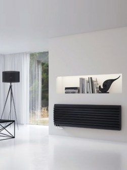 living room radiators, beige radiators, cream radiators, horizontal radiators
