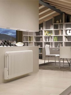 electric column radiators, traditional column radiators, electric radiators