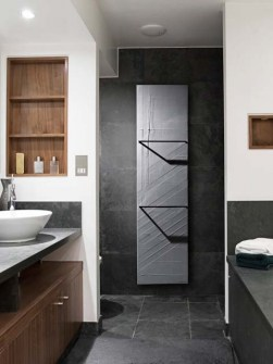 electric bathroom radiators, grey radiators, stone bathroom radiators