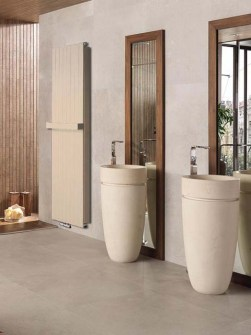narrow towel radiators, narrow bathrooom radiators, beige radiators