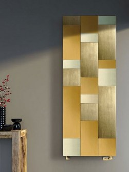 living room radiators, gold colour radiators, designer radiators