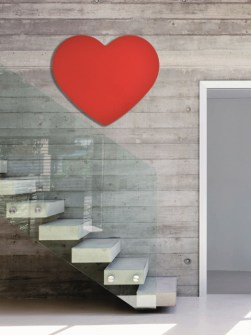 unusual radiators, infrared glass radiators, red heart radiators