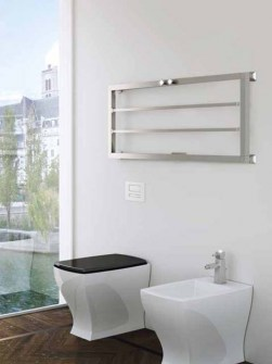 silver radiators, horizontal heated towel rails, bronze towel radiators
