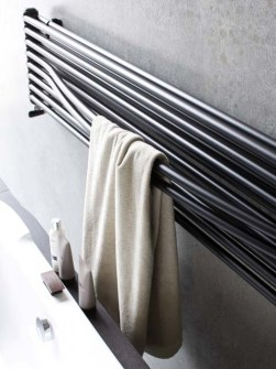 kitchen radiators, horizontal towel radiators, silver radiator