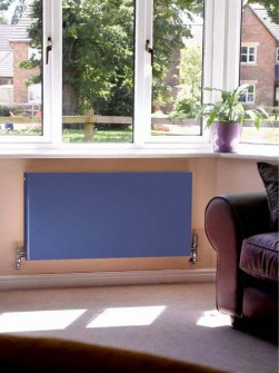 low-temperature radiators, low-temperature flat panel radiators, blue radiators