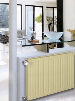 low-temperature radiators, low-temperature panel radiators, beige radiators