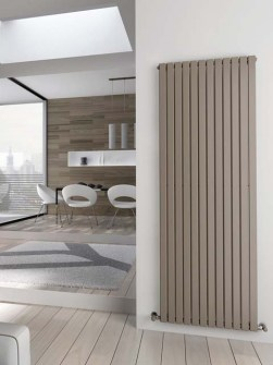 beige radiators, tall radiators, vertical radiators