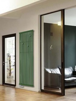 green radiators, coat rack radiators, cloak room radiators