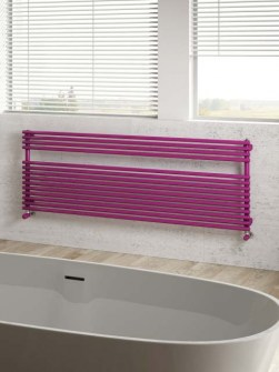 purple towel radiators, horizontal bathroom radiators, kitchen radiators