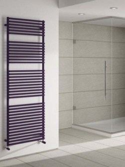central heating towel warmers, central heating towel radiators, purple radiators